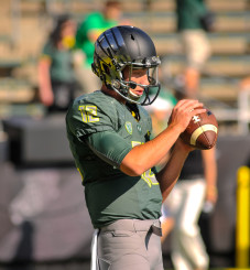 Taylor Alie is in the mix for the open quarterback job in 2015.