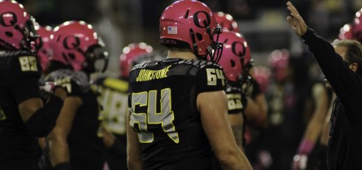 Johnstone (64) suited up against WSU in 2013.