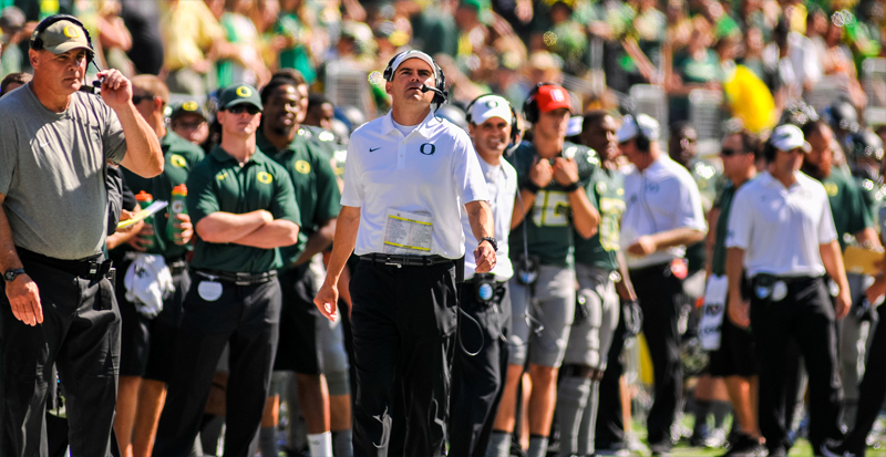 The future is looking up for coach Mark Helfrich.