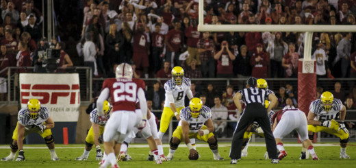 Oregon falls to Stanford 26-20 in Palo Alto on November 7, 2013