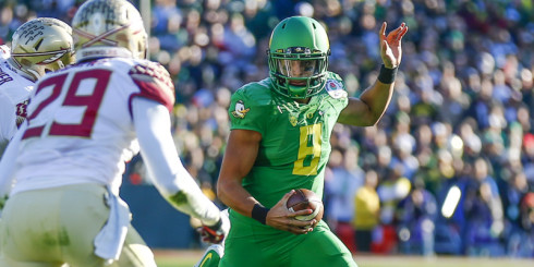 Oregon Ducks Heisman Trophy winner Marcus Mariota brings his talent and skills to the Tennessee Titans.