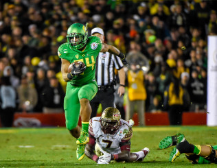 Thomas Tyner, one of many offensive weapons opponents will have to account for if they want to beat Oregon