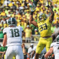 Oregon will look to sweep the home and Home series with Michigan State this year in East Lansing