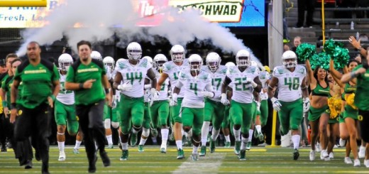 Ducks running out of the Autzen tunnel