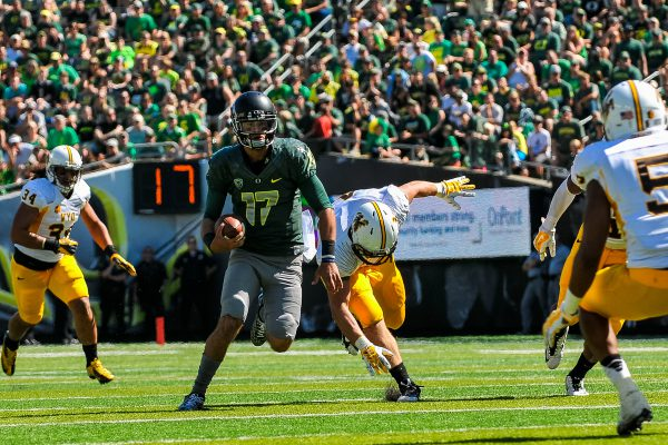 Despite what critics have said, Jeff Lockie still feels like he has a good chance at being the Ducks starting QB this season.