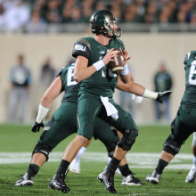 Connor Cook led the Spartans with 192 yards passing and 2 TD's