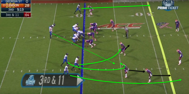 The Panther's offense loves the trips formation.
