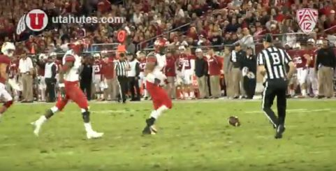 Utes watch another Hackett punt roll.