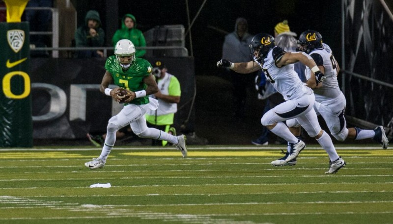 Vernon Adams had 300 yards and four touchdowns against Cal.