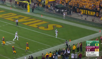 Charles Nelson ran away from the slow footed Arizona State cover team.